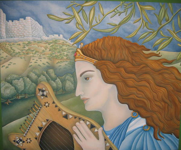 Mogen David Painting - King David In His Youth by Jeniffer Stapher-Thomas
