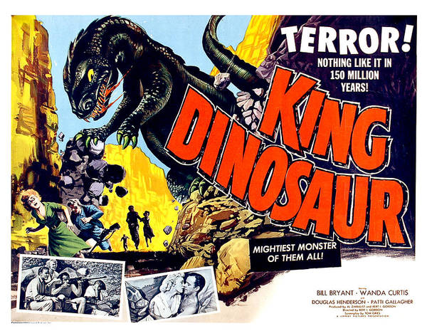 Spectacular Painting - King Dinosaur, Mightiest Of All Creatures, Horror Movie, Poster by Long Shot