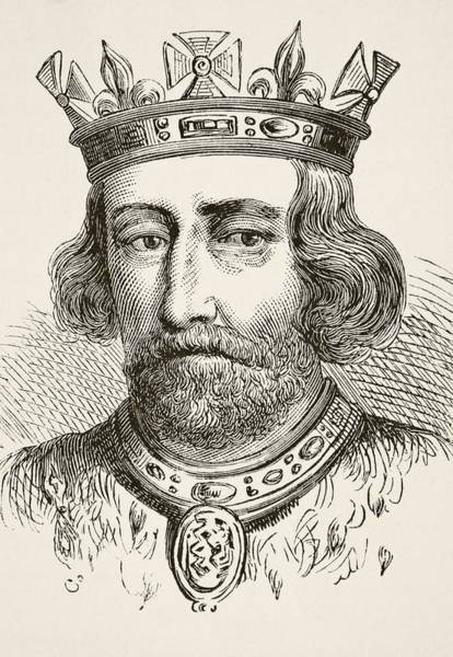 Wall Art - Drawing - King Edward II Of England 1284 To 1327 by Vintage Design Pics