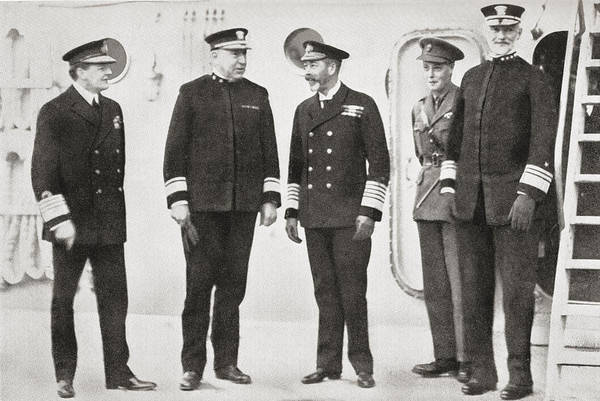 Wall Art - Drawing - King George V Visits The Fleet At by Vintage Design Pics