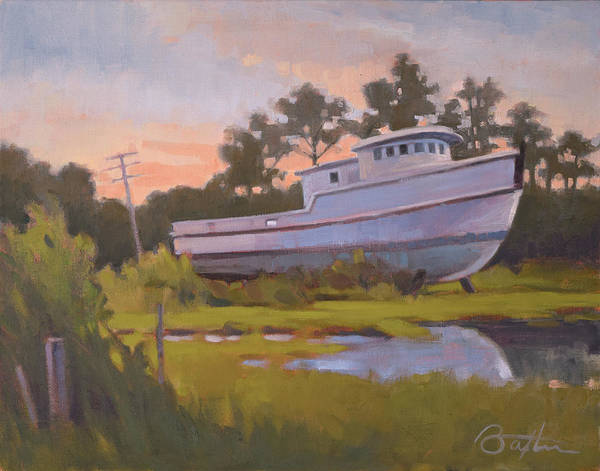 Outer Banks Painting - King George's Boat by Todd Baxter