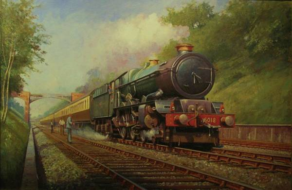 Trains Painting - King In Sonning Cutting. by Mike Jeffries