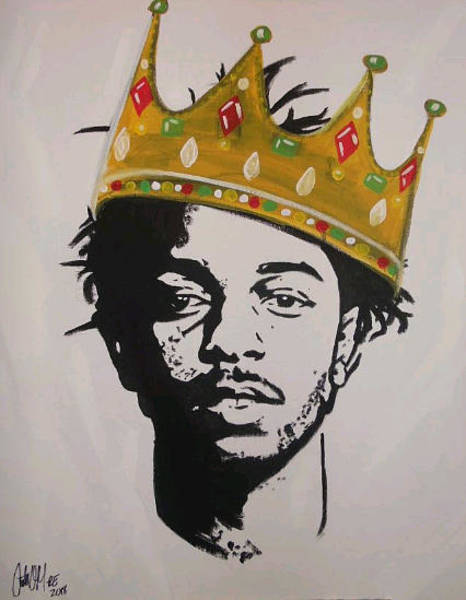 Painting - King Kendrick by Antonio Moore