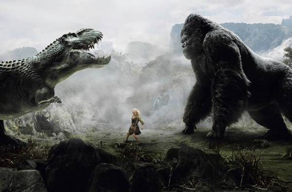 Wall Art - Digital Art - King Kong 2005  by Geek N Rock