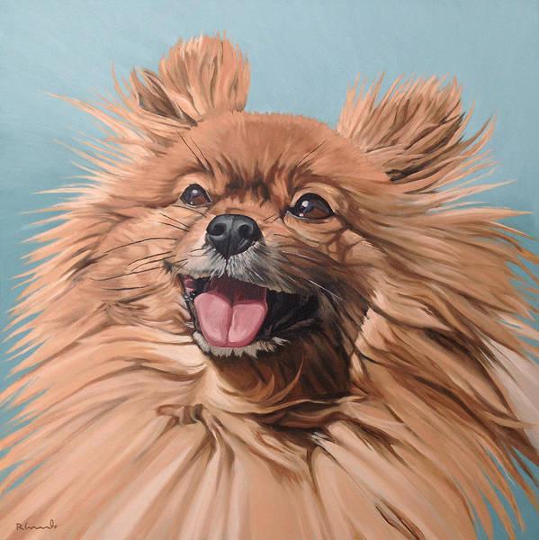 Pomeranian Painting - King Louie by Nathan Rhoads