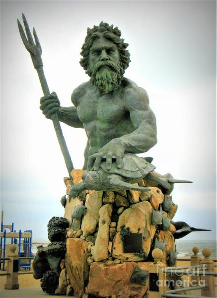Photograph - King Neptune Statue by Patti Whitten