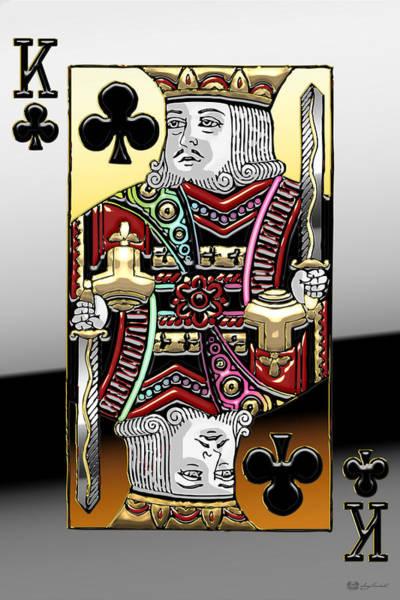 Digital Art - King Of Clubs   by Serge Averbukh