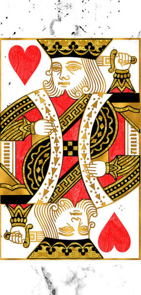 Cards Digital Art - King Of Hearts by Canvas Cultures