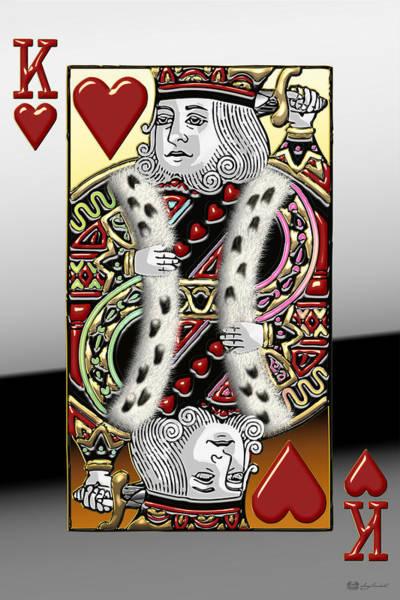 Digital Art - King Of Hearts   by Serge Averbukh