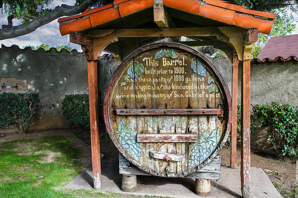 San Gabriel Mission Photograph - King Of Kegs by Robert Hebert