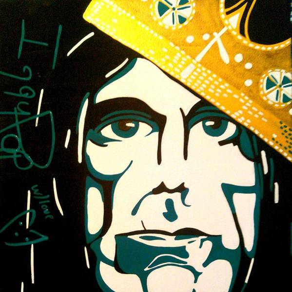 Iggy Pop Painting - King Of Pop by The Empress
