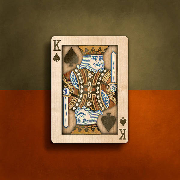 Wall Art - Photograph - King Of Spades In Wood by YoPedro