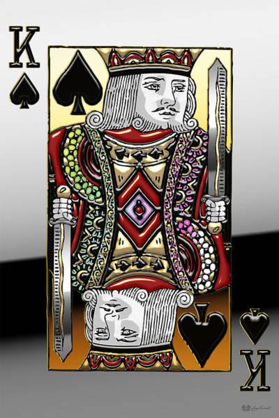Digital Art - King Of Spades   by Serge Averbukh