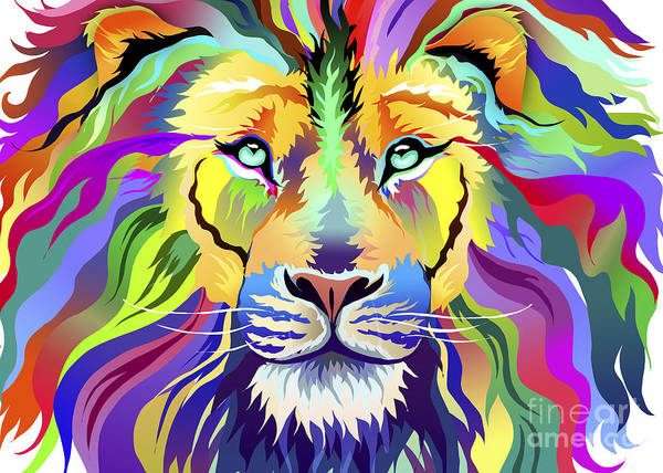 Wall Art - Digital Art - King Of Techincolor Variant 4 by MGL Meiklejohn Graphics Licensing