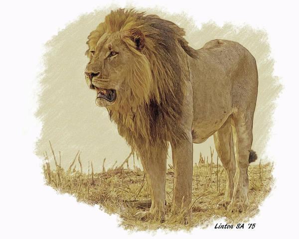Digital Art - King Of Beasts by Larry Linton