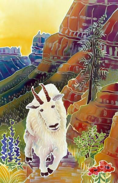 Mountain Goat Wall Art - Painting - King Of The High Peaks by Harriet Peck Taylor