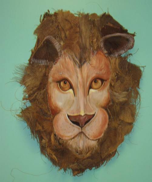 Caricature Mixed Media - King Of The Jungle by Ellen Burns