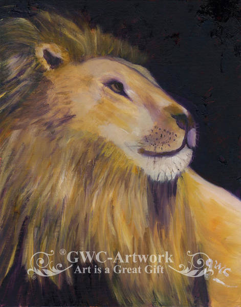 Wall Art - Painting - King Of The Jungle by Gloria Condon