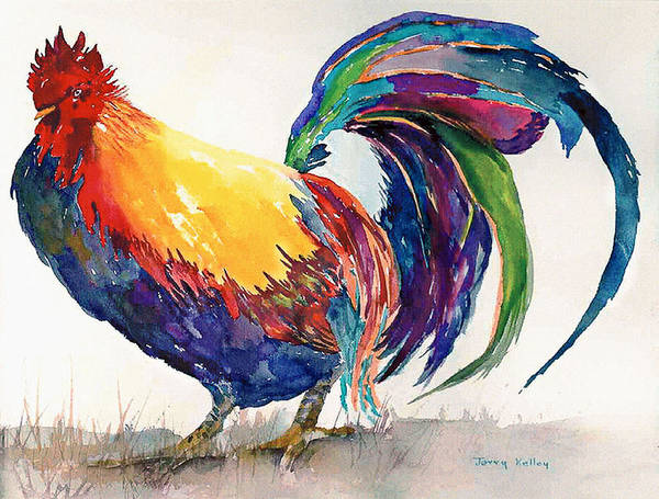 Roost Painting - King Of The Roost by Jerry Kelley