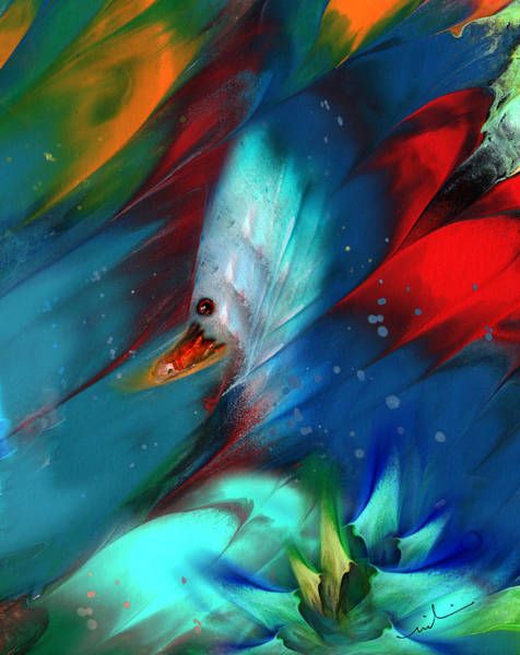Painting - King Of The Swans by Miki De Goodaboom