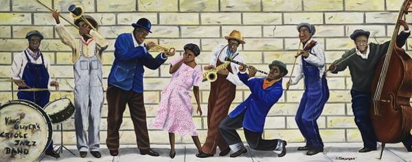 Wall Art - Painting - King Oliver's Creole Jazz Band by Rick Seguso