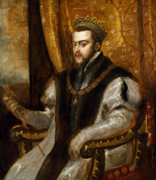 Titian Painting - King Philip II Of Spain  by Titian