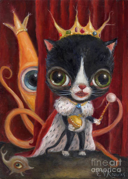 Painting - King Sparky The Somethingth by Vicky Knowles