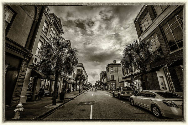 Photograph - King St. Storm Clouds Charleston Sc by Donnie Whitaker