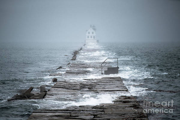 High Tide Photograph - King Tide At Rockland Breakwater Lighthouse by Benjamin Williamson