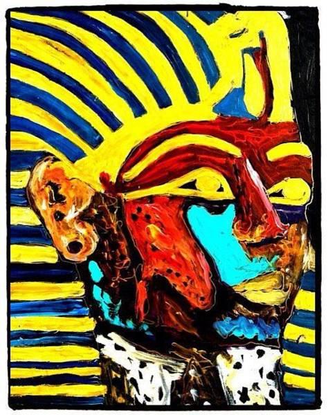 Painting - King  Tut by Neal Barbosa