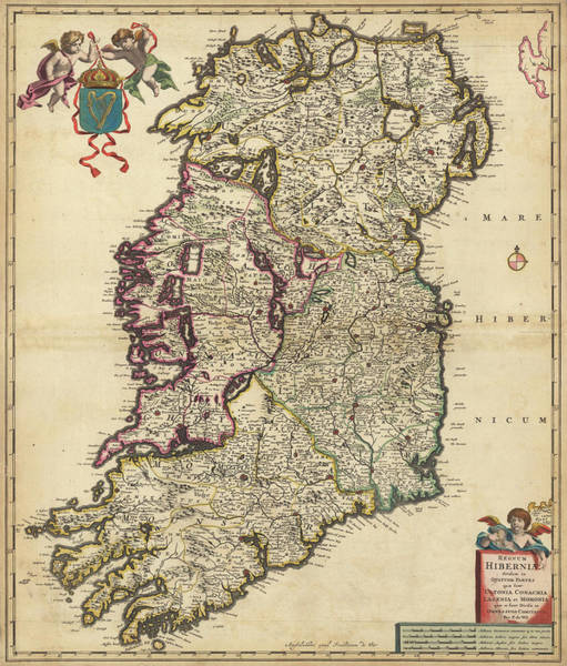 Wall Art - Painting - Kingdom Of Ireland by Nicolaes Visscher