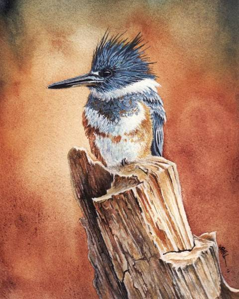 Painting - Kingfisher I by Greg and Linda Halom
