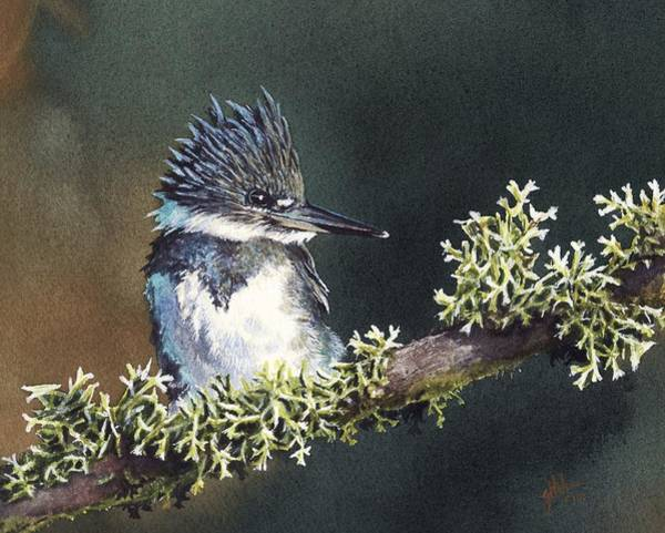 Painting - Kingfisher II by Greg and Linda Halom