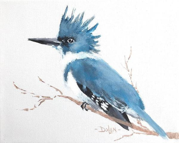 Painting - Kingfisher On A Branch by Pat Dolan