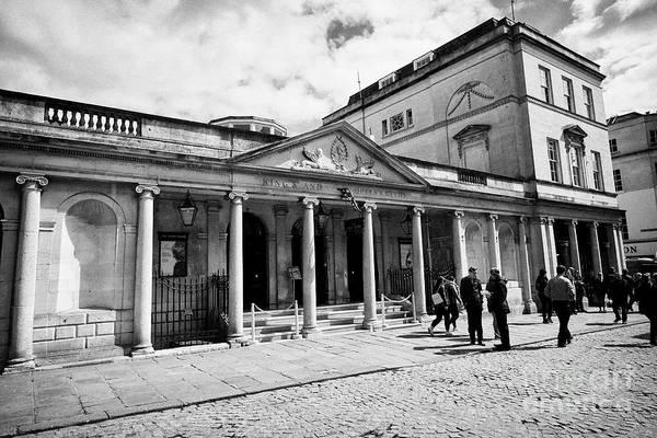Queens Bath Photograph - Kings And Queens Baths Roman Baths Exit With South Colonnade Stall Street Bath England Uk by Joe Fox
