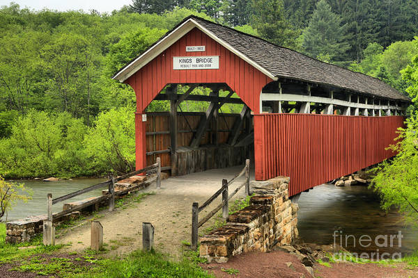 Wall Art - Photograph - Kings Covered Bridge Somerset Pa by Adam Jewell