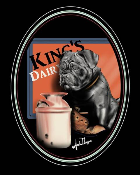 Mixed Media - King's Dairy  by Andrew Thompson