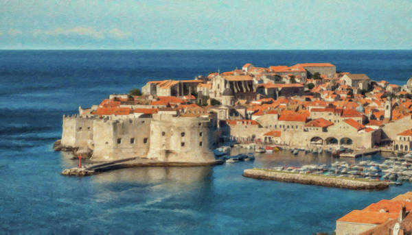 Painting - Kings Landing Dubrovnik Croatia - Dwp512798 by Dean Wittle