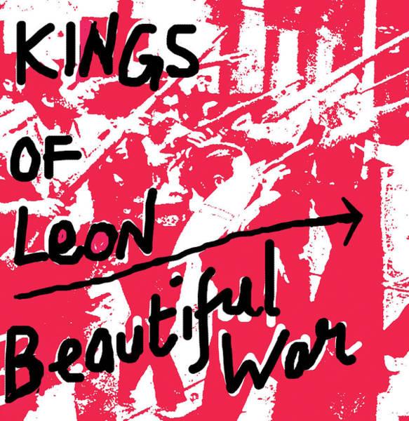 Blue Oyster Cult Wall Art - Mixed Media - Kings Of Leon Beautiful War 2013 by Enki Art