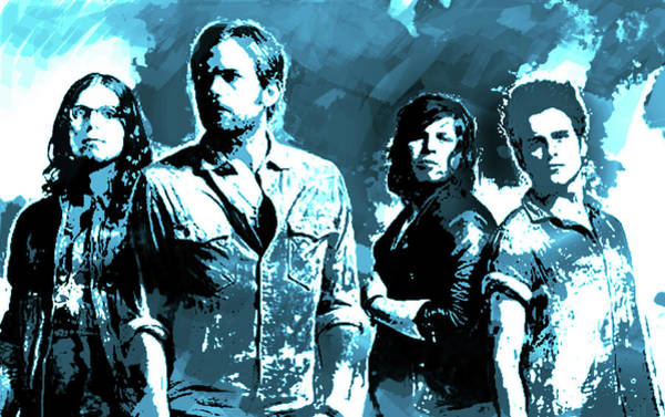 Blue Oyster Cult Wall Art - Painting - Kings Of Leon Blue  by Enki Art