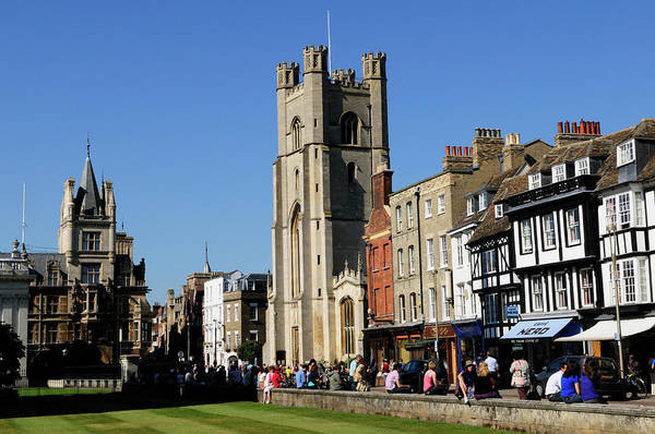 Wall Art - Photograph - Kings Parade And Great St Marys Church by Liz Pinchen