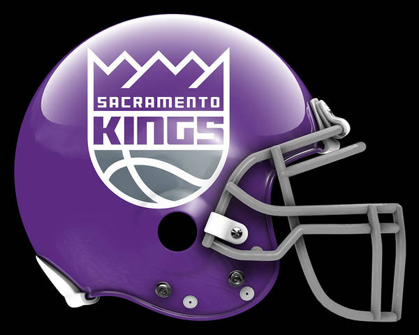 Sacramento Painting - Kings What If Its Football 3 by Joe Hamilton