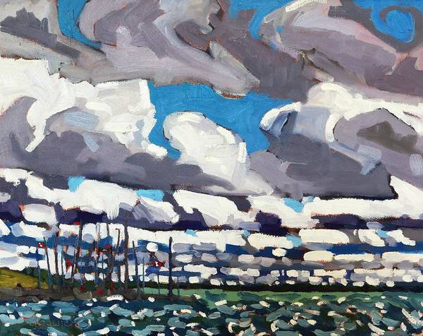 Stratocumulus Painting - Kingston Waterfront by Phil Chadwick