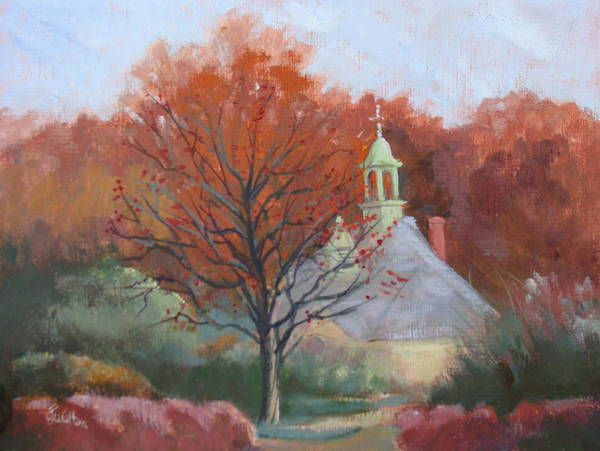 Painting - Kingwood Bell Tower by Judy Fischer Walton