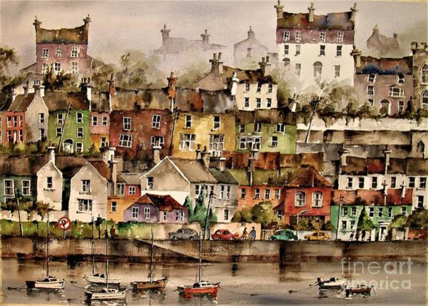 Painting - F 906  Kinsale Harbour. Cork by Val Byrne