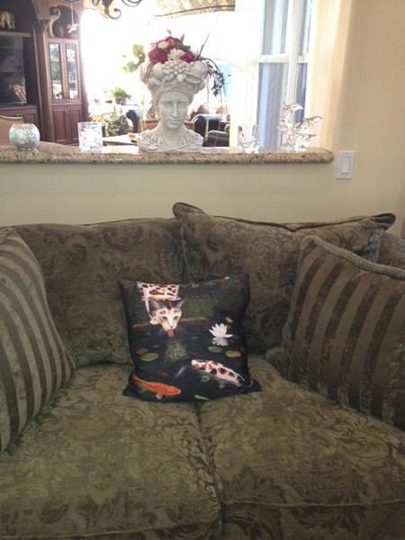 Painting - Kinship Pillow by Karen Zuk Rosenblatt