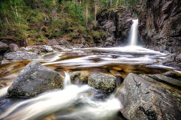 Franconia Notch State Park Photograph - Kinsman Falls - Franconia Notch by Jeff Bazinet