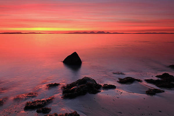 Photograph - Kintyre Rocky Sunset 2 by Grant Glendinning