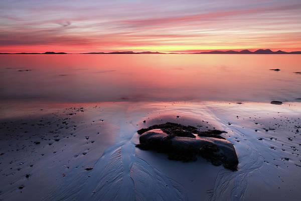 Photograph - Kintyre Rocky Sunset 5 by Grant Glendinning