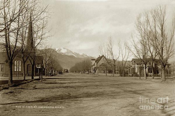 Photograph - Kiowa Street,  Colorado Springs, Colorado Circa 1890 by California Views Archives Mr Pat Hathaway Archives